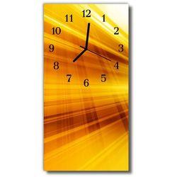 Zegar Szklany Pionowy Sztuka Linie fala żółty, kolor żółty