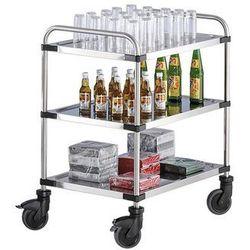 Wózek stołowy ze stali szlachetnej varithek servo+, dł. x szer. x wys. 870x570x9 marki Rieber
