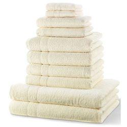 """Komplet ręczników """"new uni"""" (10 części) kremowy marki Bonprix"""