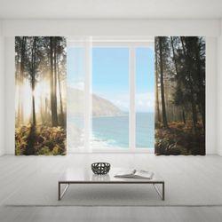 Zasłona okienna na wymiar komplet - ENIGMATIC WOODS