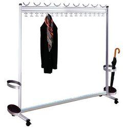 Szeregowy stojak na garderobę, wys. x gł. 1700x400 mm, ze stojakiem na parasole, marki Unbekannt