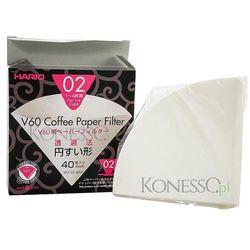 Filtry papierowe do dripa  v60-02 40szt marki Hario
