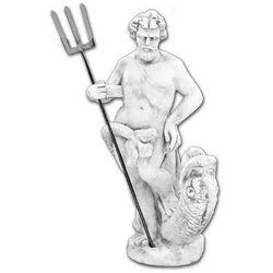 Figura ogrodowa betonowa Posejdon z Trójzębem 75cm