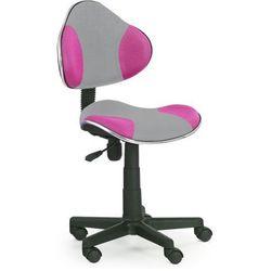 Fotel młodzieżowy Liber - różowo-szary