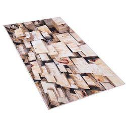 Beliani Dywan brązowy 80 x 150 cm krótkowłosy cankiri (4251682200271)