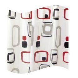 Awd interior zasłonka prysznicowa peva 180 x 180 cm czarno czerwono biała awd02101107