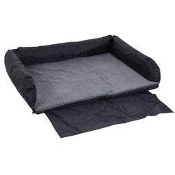 Łóżko dla psa do samochodu Trixie - Dł. x szer.: 95 x 75 cm, czarno- szare| -5% Rabat dla nowych klientów