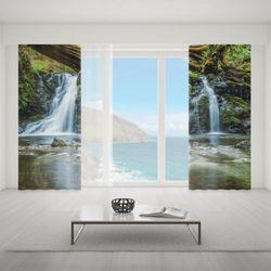 Zasłona okienna na wymiar komplet - MAGIC WATERFALLS