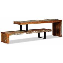 Stolik pod telewizor z litego drewna z odzysku marki Vidaxl