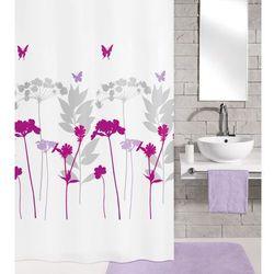 Kleine Wolke Tekstylna zasłona prysznicowa BARCELONA 180 x 200 cm jagoda