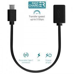 type-c charge & sync adapter - adapter usb-c 3.1 na usb-a 3.0 do ładowania & synchronizacji danych, 2a, 5 gbp