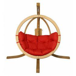 Okrągły czerwony fotel ogrodowy - Parys 2X, O-Zone