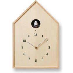 Lemnos Zegar ścienny z kukułką birdhouse naturalny (4260278082795)