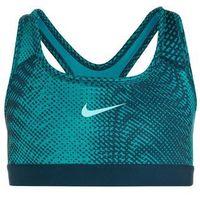 Nike Performance PRO CLASSIC ALLOVER Biustonosz sportowy turbo green/space blue/light aqua/tempest