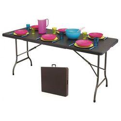 Stół składany cateringowy Turner 3X - technorattan, RZK-180 BROWN