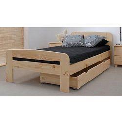 Łóżko drewniane Klaudia 90x200 z materacem kieszeniowym