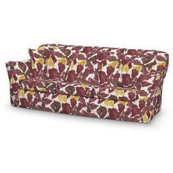 Dekoria Pokrowiec na sofę Tomelilla 3-osobową nierozkładaną, żółto-brązowe kwiaty, Sofa Tomelilla 3-osobowa, Wyprzedaż do -30%