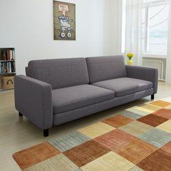 kanapa sofa 3 osobowa ciemnoszara wyprodukowany przez Vidaxl