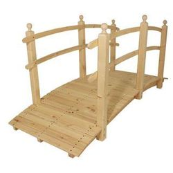 Most drewniany ogrodowy bez wykończenia powierzchni - 248 cm