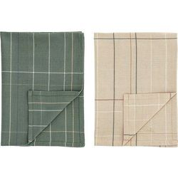 Bloomingville Ręczniki kuchenne kratka 2 szt. (5711173204007)