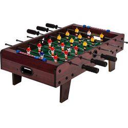 Brązowa mini gra piłkarzyki 70x37x25 cm stół piłkarski wyprodukowany przez Makstor.pl