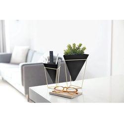 Umbra - wazon/pojemnik dekoracyjny trigg, 2 szt, czarny