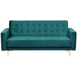 Sofa trzyosobowa welur szmaragdowa ABERDEEN (4251682203838)