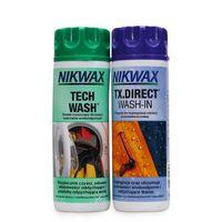 Zestaw środek czyszczący + impregnat: NIKWAX Tech Wash / TX. Direct Wash-In (2 * 300 ml butelki) - produkt z