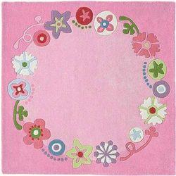 Haba Dywan kwiatowa korona 140x140 cm, kategoria: dywany dla dzieci