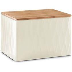 Metalowy chlebak z bambusową deską do krojenia, 2w1, 28x21x20 cm, marki Zeller