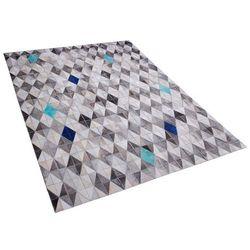 Dywan skórzany szaro-niebieski 160 x 230 cm terimli marki Beliani