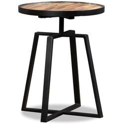 Okrągły stolik z odzyskanego drewna tekowego