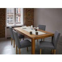 Fotel tapicerowany szary - krzesło do jadalni, kuchni - BROADWAY (7081452657755)
