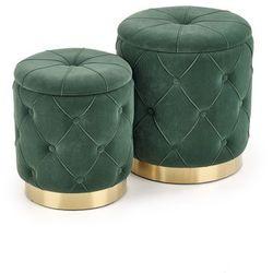 Pufa Polly dwie sztuki zielona kolor zielony