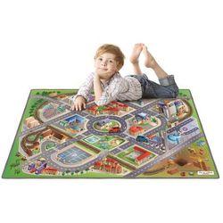 Dywan mata miasto ulice drogi wysoka jakość efekt 3d 100x150 cm marki House of kids