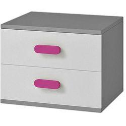 Stylowa szafka nocna z kolorowymi uchwytami florentino 13x - szara marki Producent: elior