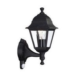 Kinkiet ogrodowy lampa ścienna Philips Lima góra 1x60W E27 IP44 czujnik ruchu czarny 71422/01/30, 71422/01/30