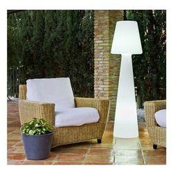 Sofa.pl New garden lampa podłogowa lola 165 biała - led, przewód