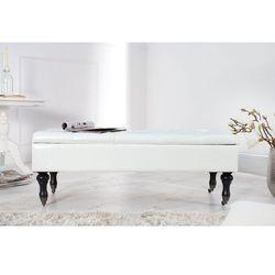 Interior space Ławka ze skrzynią gloria modern baroque - biała - biały