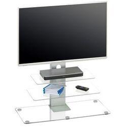 Maja-möbel Stolik pod telewizor, 104 cm, srebrny, szkło, 16419499