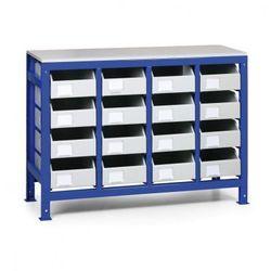 Regał z metalowymi szufladami, 16 szuflad marki B2b partner