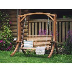 Beliani Huśtawka do ogrodu z drewna - brązowa novara