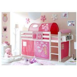 Ticaa kindermöbel Ticaa łóżko piętrowe manuel sosna biała konik (pink)
