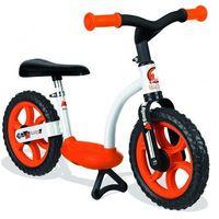 rowerek biegowy pomarańczowy wyprodukowany przez Smoby