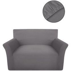 Vidaxl elastyczny pokrowiec na kanapę, z dżerseju, szary (8718475956594)