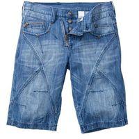 """Bonprix Bermudy dżinsowe regular fit  niebieski """"medium bleached used"""""""