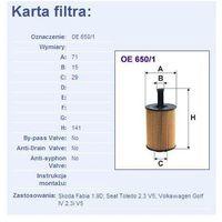 Filtr oleju OE 650/1 z kategorii Filtry oleju