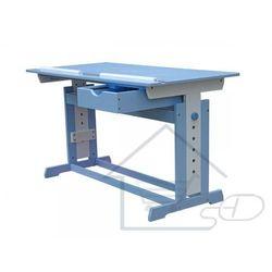 1 Biurko dziecięce regulowane ławka pod laptopa niebieska