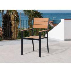 Krzesło ogrodowe brązowe - tarasowe - balkonowe - aluminium - prato wyprodukowany przez Beliani