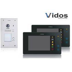 Zestaw cyfrowy wideodomofon dwurodzinny s1202a_m1021b czarny marki Vidos